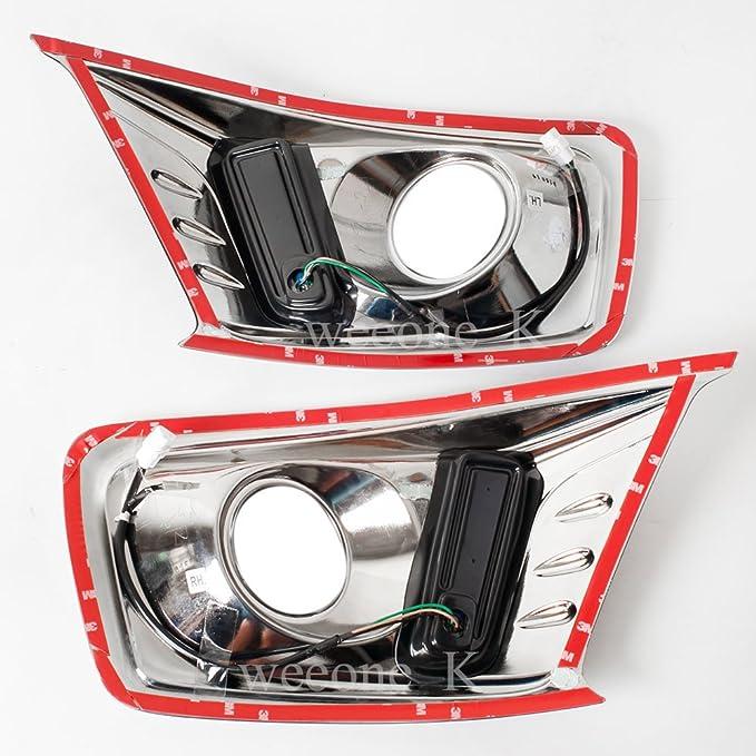 K1AutoParts L.E.D LED Daytime Running Light Bar DRL Daylight Kit Day Driving Fog Lamp For Isuzu D-MAX Dmax Pickup 2012 2013 2014 2015 V.2