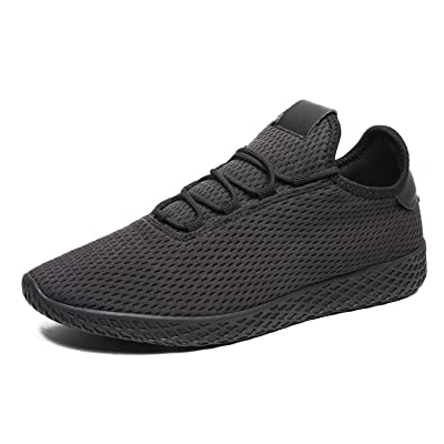 POPULO Men's Fashion Breathable Sport Shoes Knit Lightweight Casual Shoes Gym Sneakers Shoes for Work | Fashion Sneakers