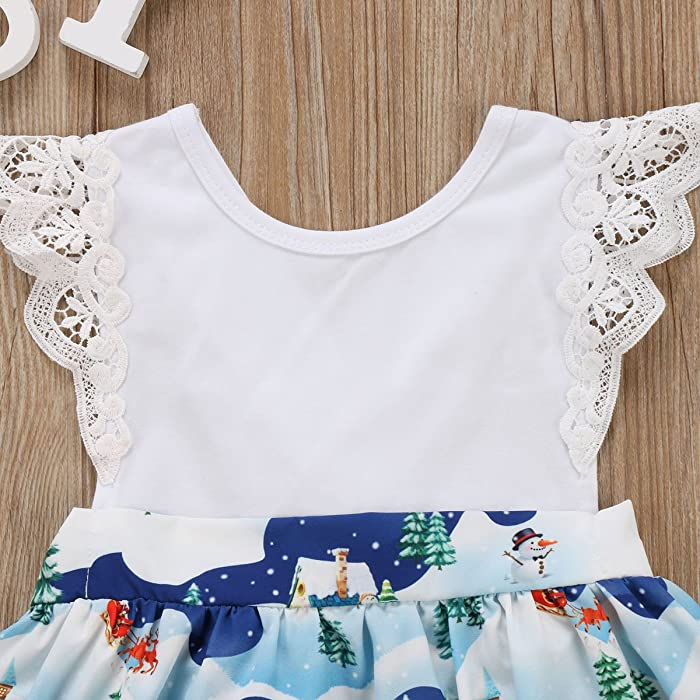 ba49412f9354 Family Matching Big Little Sister Christmas Santa Ruffle Bodysuit Dress  Outfit