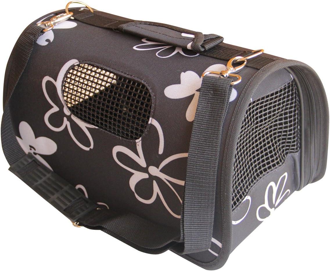 BPS Portador Transportín Bolsa Bolso de Tela para Perro, Gato, Mascotas, Animales,2 Tamaños Elegir BPS-2121 (Negro M)