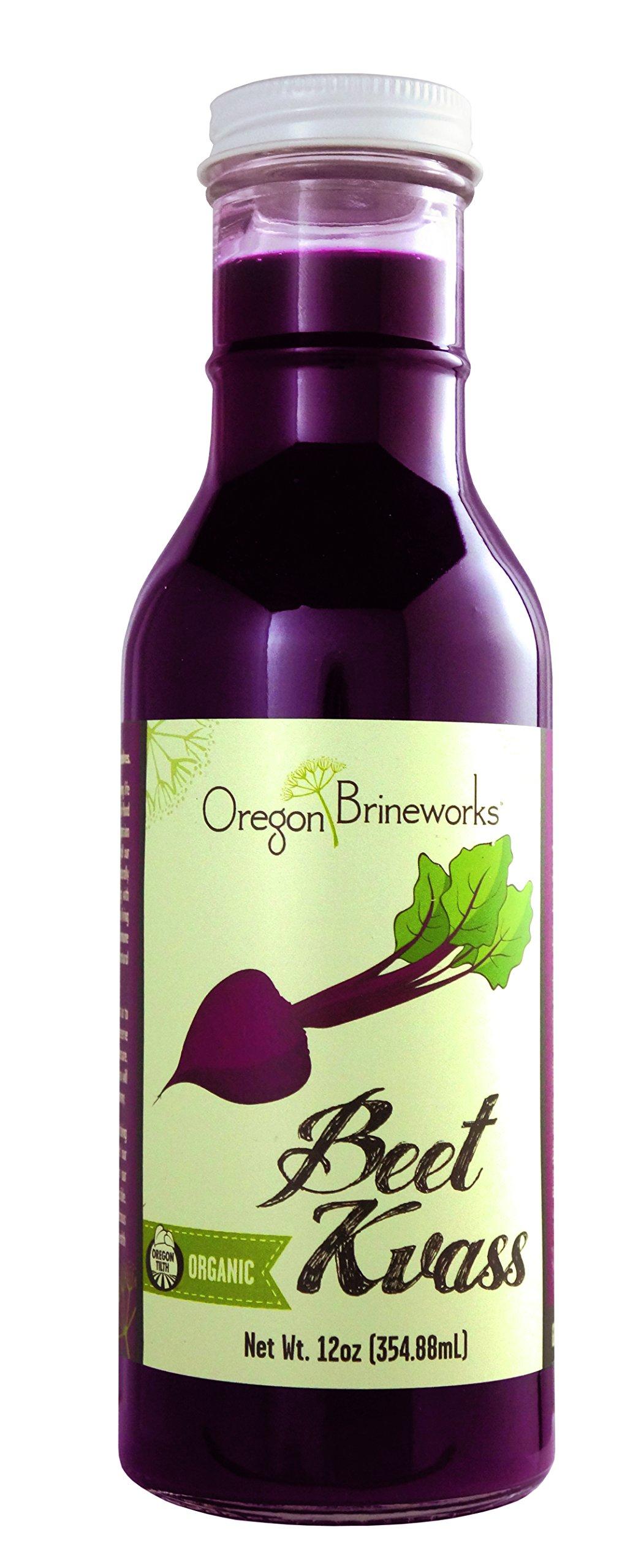 Beet Kvass, (6 Pack), Organic, Raw, Fermented, Probiotic, 12 Fl Oz by Oregon Brineworks