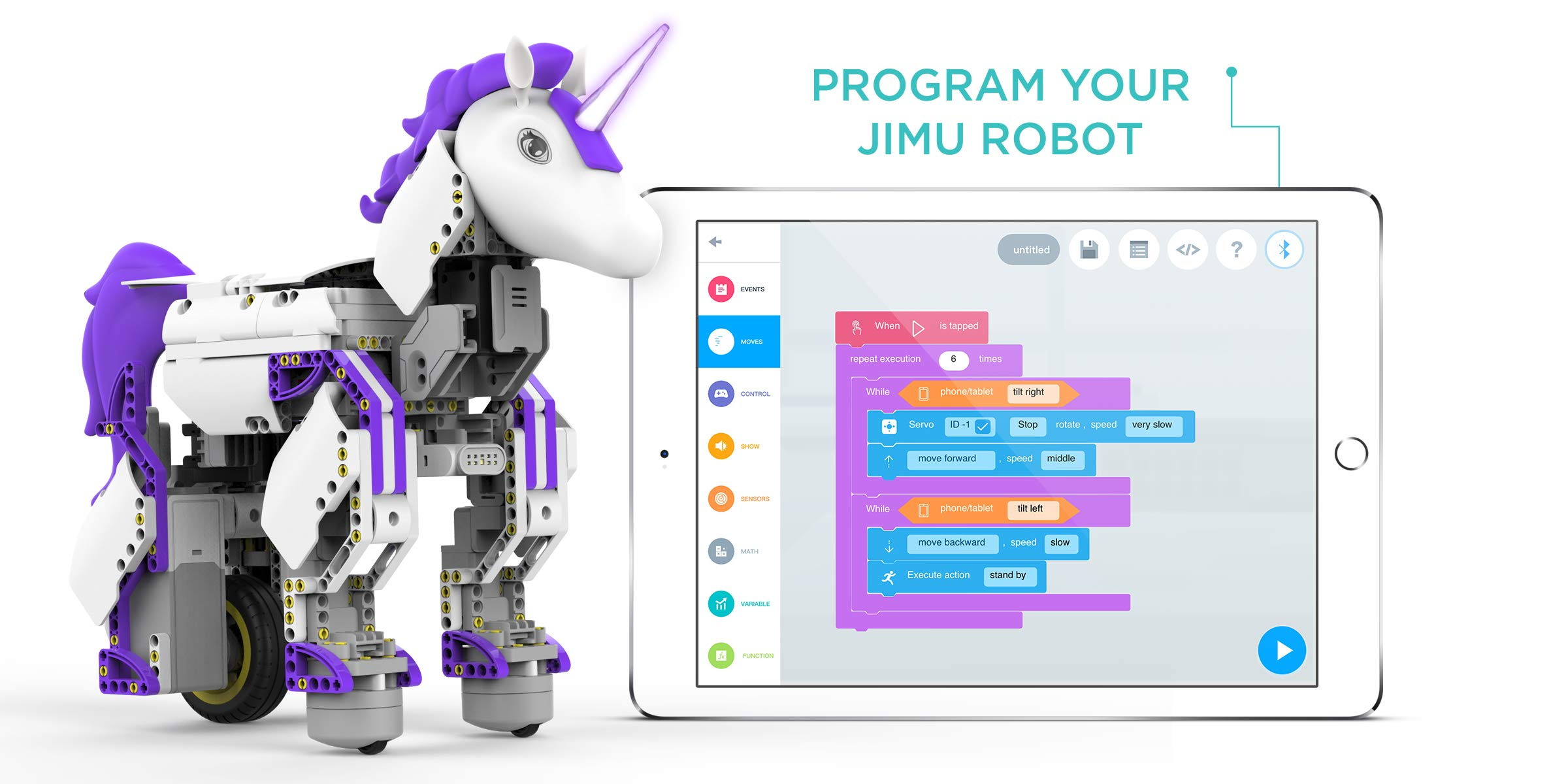 UBTECH Mythical Series: Unicornbot Kit-App-Enabled Building & Coding Stem Learning Kit by UBTECH (Image #3)