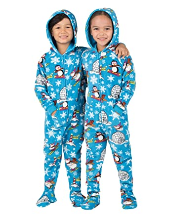 2488389f99 Amazon.com  Footed Pajamas - Winter Wonderland Toddler Hoodie Fleece ...