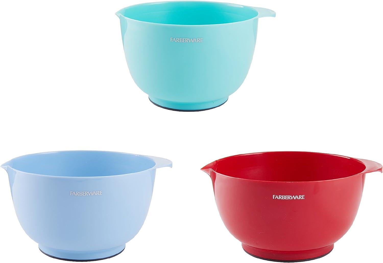 Farberware Baker's Advantage Set of 3 Assorted Mixing Bowls