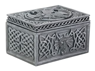 Summit Stealstreet Dragon Celtic Jewelry Box Collectible Tribal Container Scultura