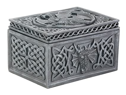 Amazoncom Dragon Celtic Jewelry Box Collectible Tribal Container