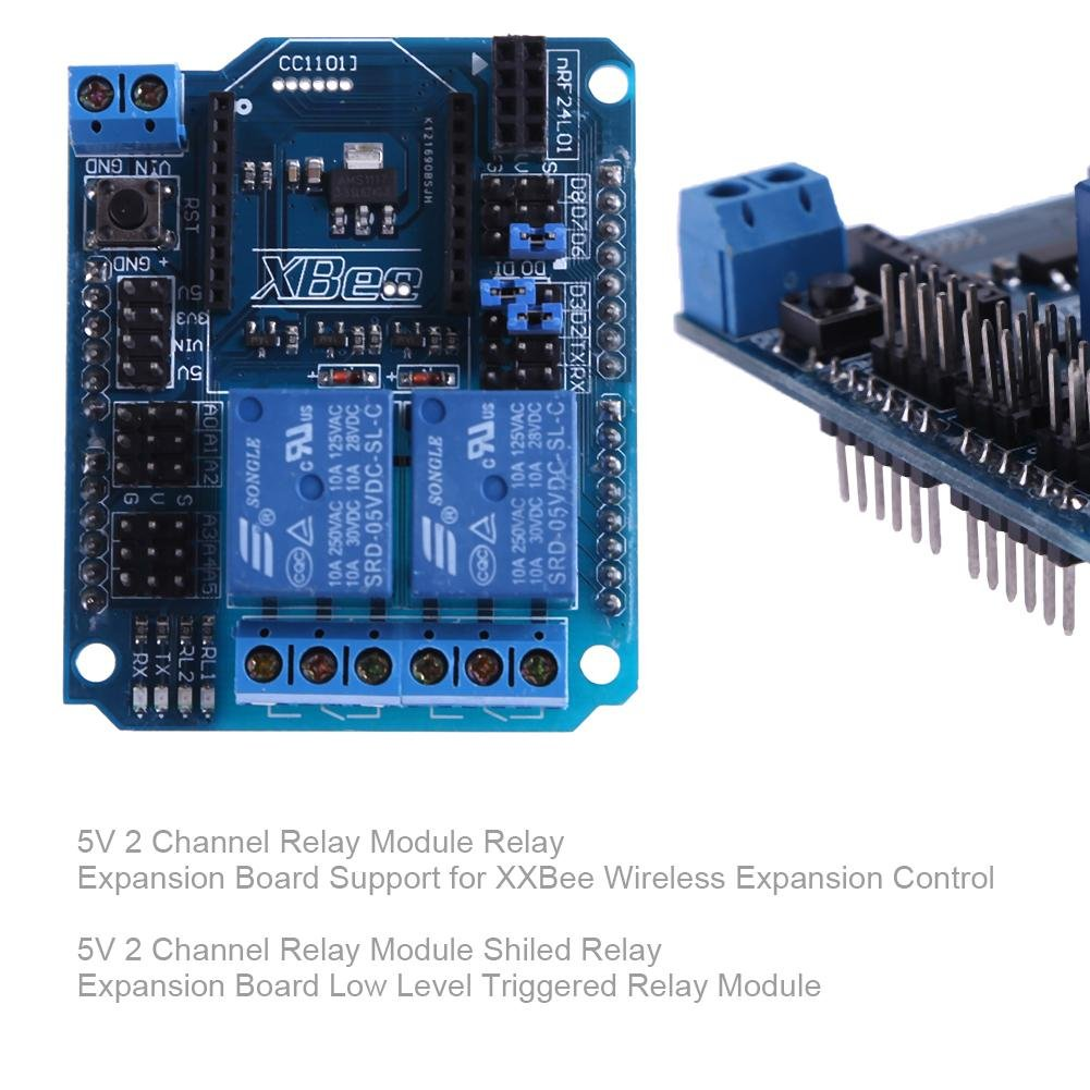 Amazingdeal 2 Channel Relay Module Expansion Board Support For Xxbee Control Diy Tools