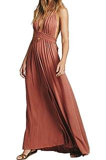 CA Mode Women Plunging Neckline Summer Beach Evening Prom Gown Party Maxi  Dress 262e09e28