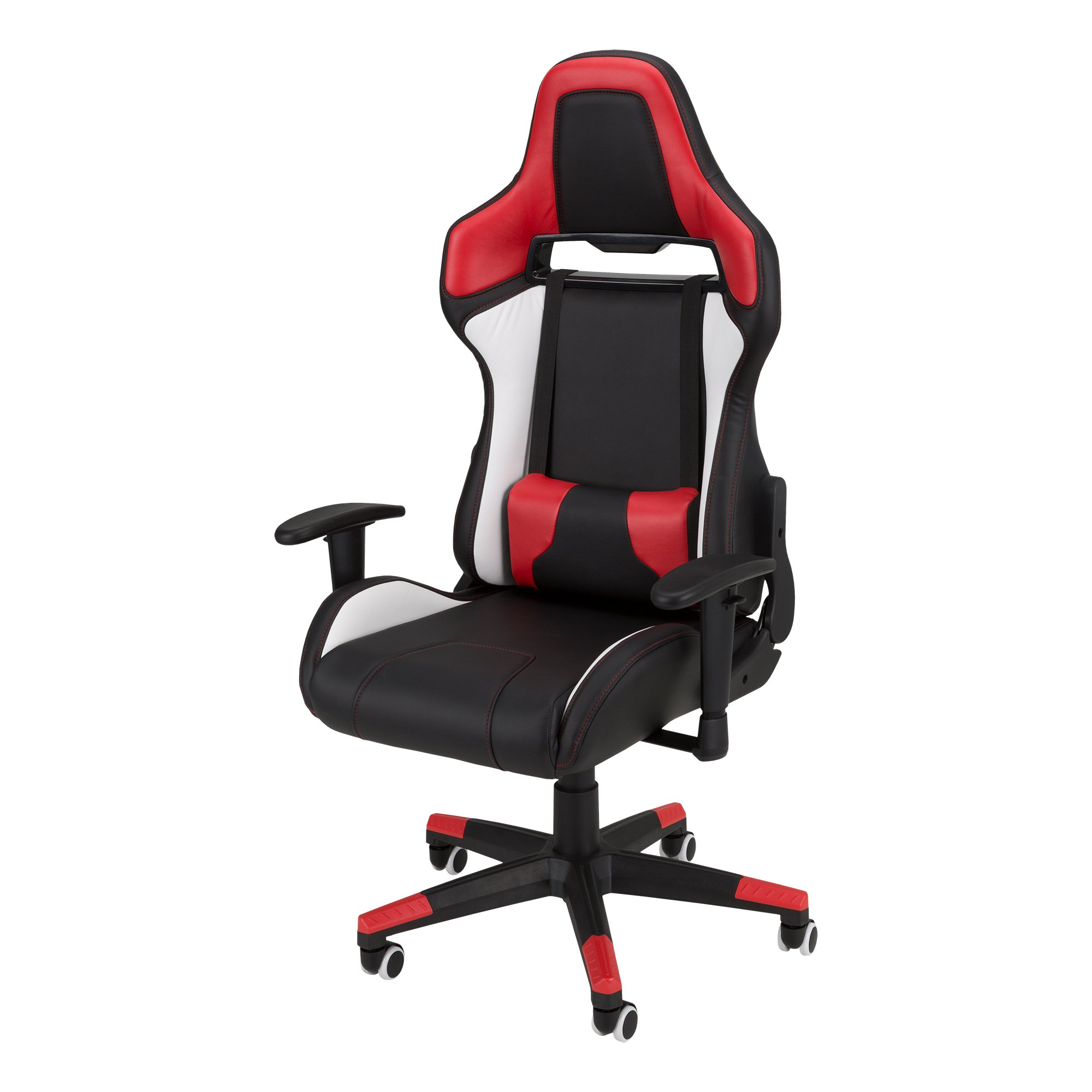 Commander - Racing-Style Gaming Chair by SkyLab Performance Seating F.C., Red/White/Black