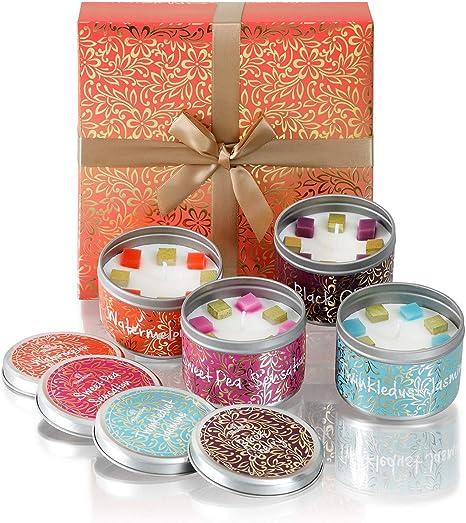 The Gift Box Candele in latta Confezione da quattro Luxury Relax