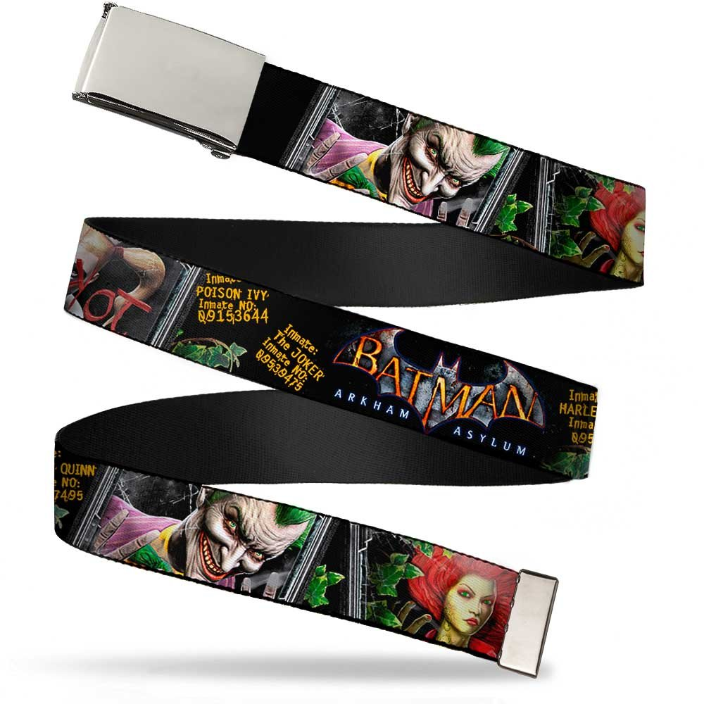 Blank Chrome 1.5 Bo Buckle Batman Arkham Asylum Patients Joker Poison Ivy Web Belt 1.50 Wide