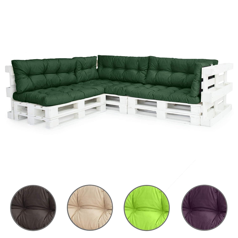 Gardenista/® Grey 8pc Tufted Outdoor Pallet Seating Cushion Set