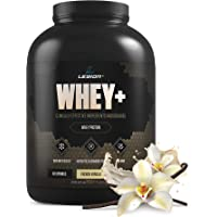 Legion Whey+ Vanilla Whey Isolate Protein Powder from Grass Fed Cows, 5lb. Low Carb, Low Calorie, Non-GMO, Lactose Free, Gluten Free, Sugar Free. Great for Weight Loss & Bodybuilding.
