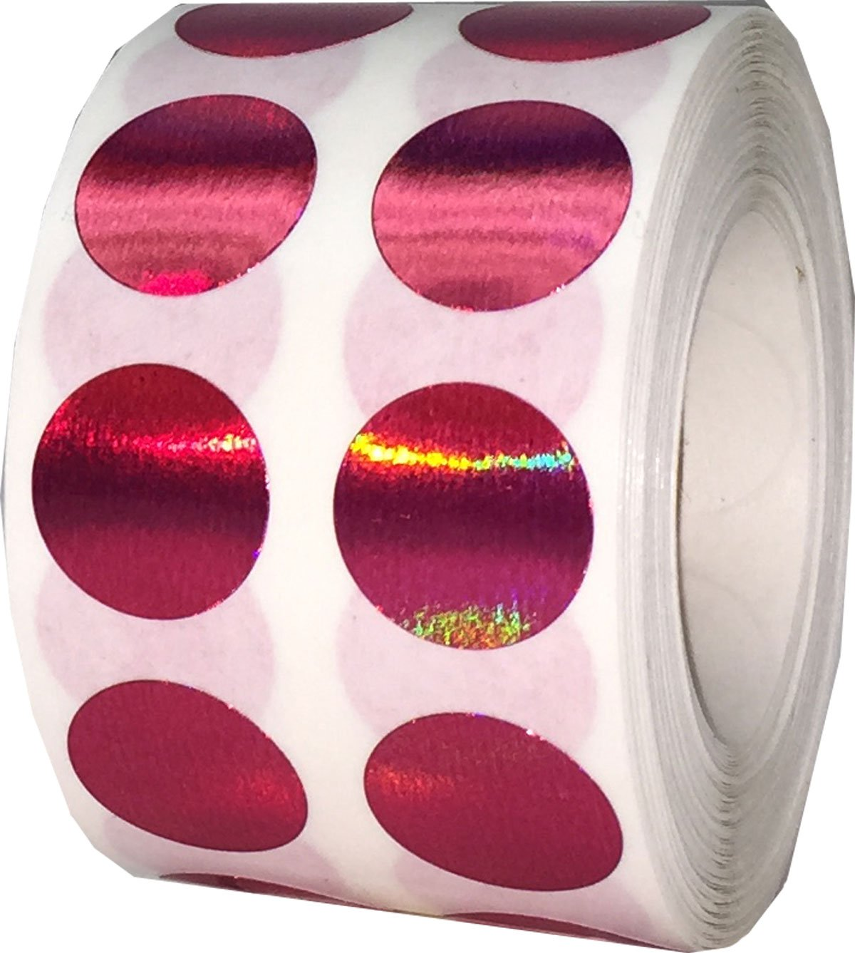 1000 Labels on a Roll Metallic Gold Circle Dot Stickers 13 mm 1//2 Inch Round