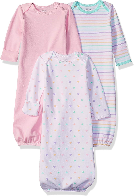 Amazon Essentials - Pack de 3 sacos de dormir de bebé para niña