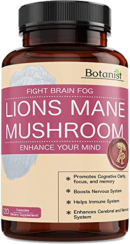 Lions Mane Mushroom Capsules – Premium Quality, Powerful Memory Support – Real Mushrooms – 120 Capsules