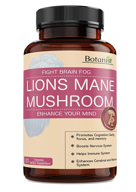 Lions Mane Mushroom Capsules – Premium Quality, Powerful Memory Support – Real Mushrooms – 120 Capsules