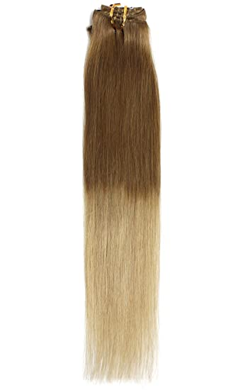 Amazon 18 clip in dip dye ombre remy human hair extensions 18quot clip in dip dye ombre remy human hair extensions pmusecretfo Image collections