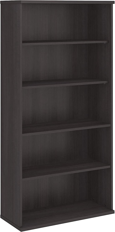 Bush Business Furniture 5 Shelf Bookcase, Storm Gray