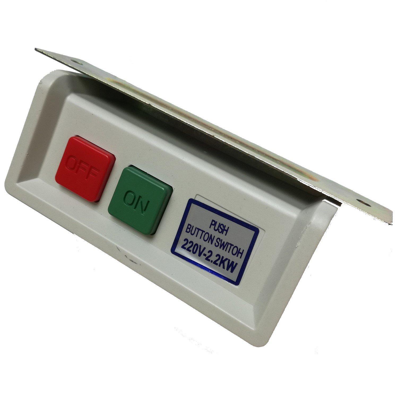 2pcs 220V/380V Industrial máquina de coser Motor de embrague sobre/off start stop pulsador PushButton Switch, lak-10