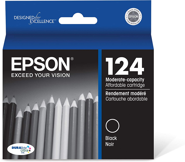 Epson T124120-S DURABrite Ultra Black Moderate Capacity Cartridge Ink