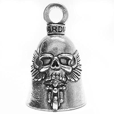 Guardian Ghost Rider Skull on Motorcycle Biker Luck Gremlin Riding Bell or Key Ring: Automotive [5Bkhe2000906]