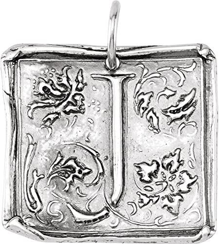 Sterling Silver InitialA Vintage-Style Pendant