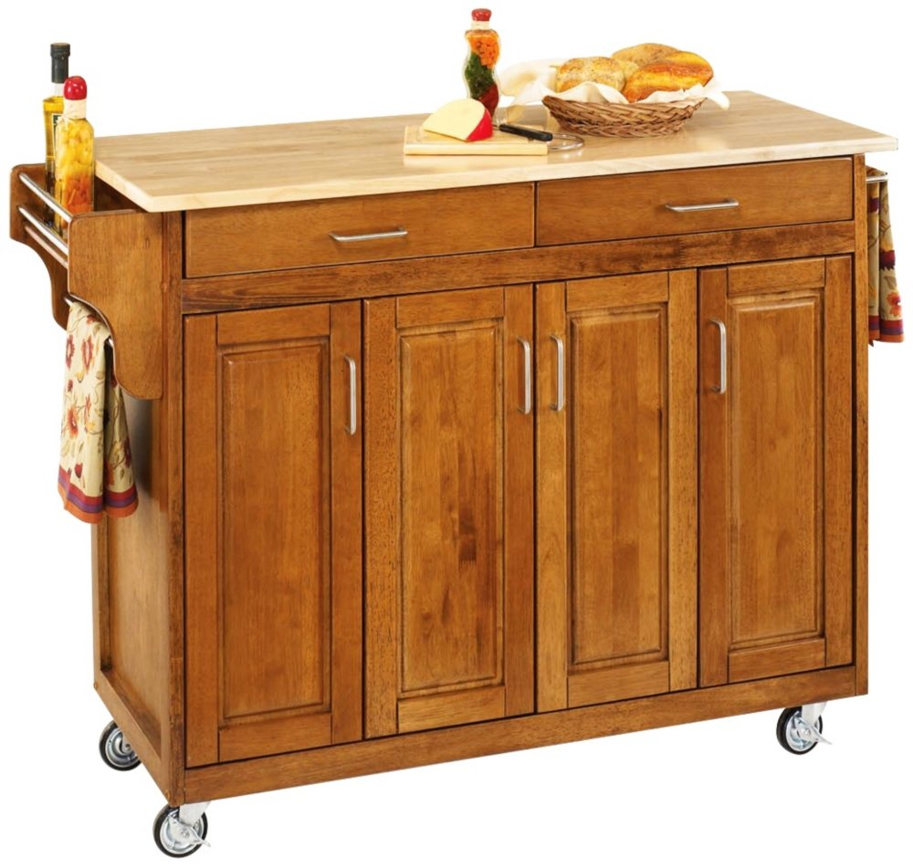 amazon com home styles 9200 1061 create a cart 9200 series amazon com home styles 9200 1061 create a cart 9200 series cabinet kitchen cart with wood top cottage oak finish kitchen islands carts