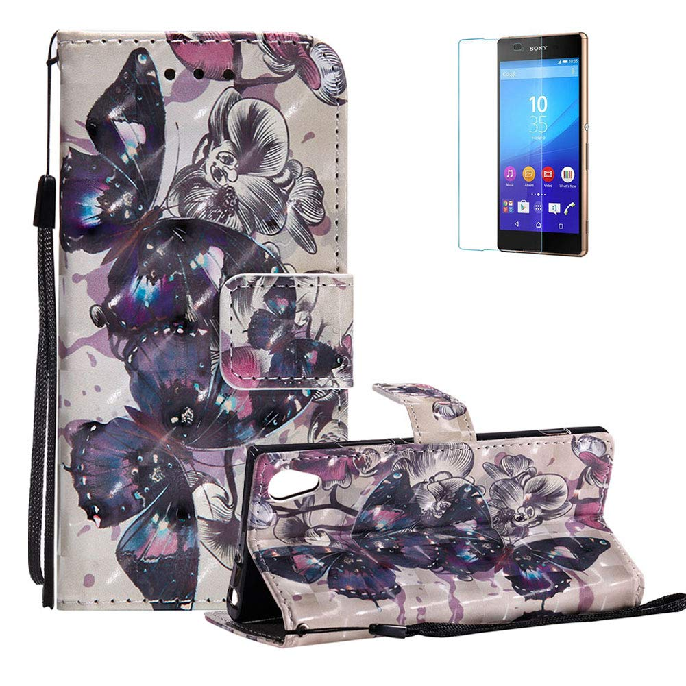 Funyye Strap Magnetic Flip Case for Sony Xperia XA1, Elegant 3D Wind Chimes Fantasy Painted Design Folio Wallet Pocket with Stand Credit Card Holder Slots Soft Silicone PU Leather Case for Sony Xperia XA1, Full Body Shockproof Non Slip Smart Durable Shell