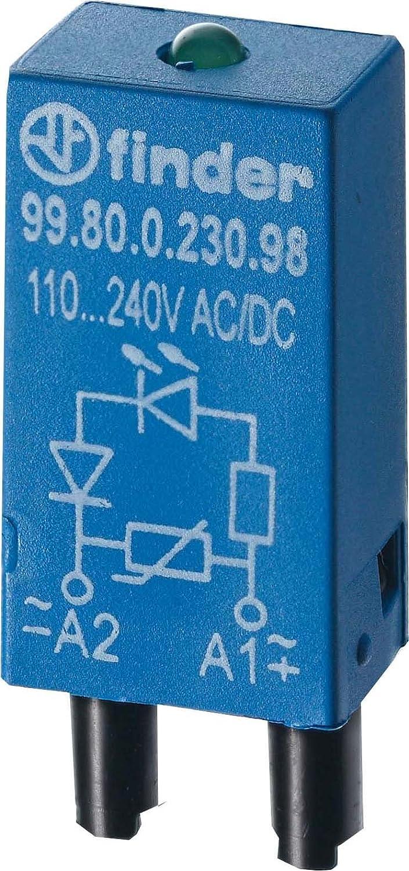 Finder serie 99 - Módulo led 6-24v corriente alterna/corriente continua verde
