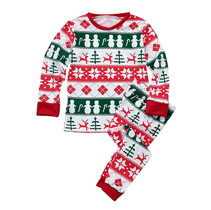 ISSHE Pijamas de Navidad Familia Pijamas Navideñas Adultos Pijama Familiares Manga Larga Hombre Mujer Niños Niña Chica BebeTrajes Navideños Para Mujeres ...
