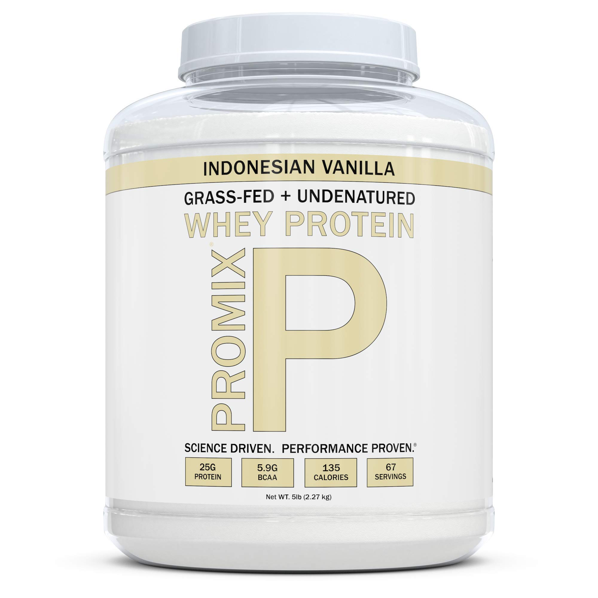 ProMix Nutrition Grass Fed Whey Protein, Vanilla, 5 lb by ProMix Nutrition