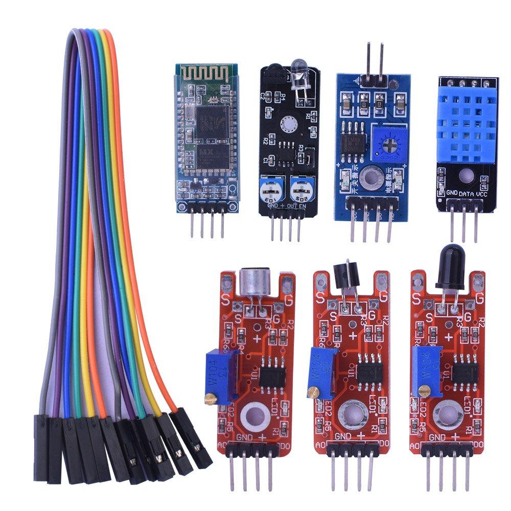 Kuman 20 In 1 Sensor Module Learning Kits Starter Kit For Arduino Simple Circuit Design With Photointerrupter Tilt Switch Electronics Uno R3 Mega2560 Mega328 Nano Bluetooth Digital Light Ky63