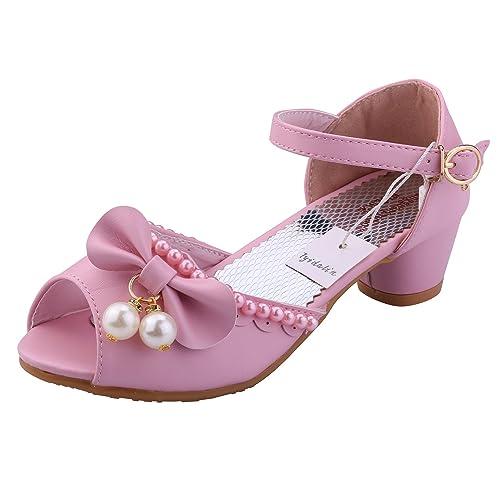 e14c9f3d Tyidalin Sandalias de Vestido Disfraz de Princesa Zapatilla de Ballet para  niñas 3 a 12 Años