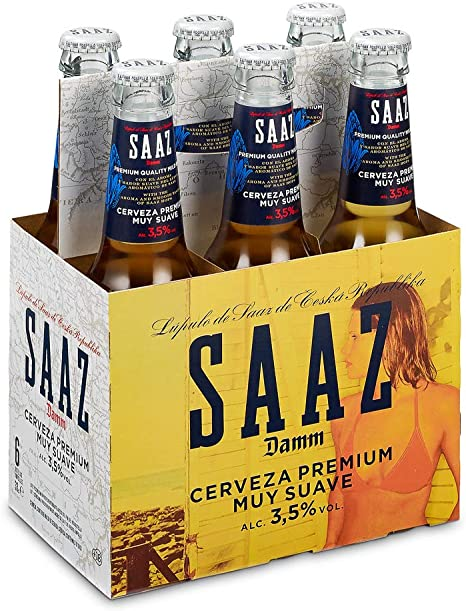 Saaz Cerveza - Pack de 6 x 330 ml, Total: 1980 ml: Amazon.es ...