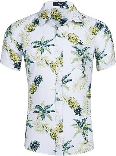 ZhuiKun Camisa Hawaiana Manga Corta para Hombre: Amazon.es: Ropa y accesorios