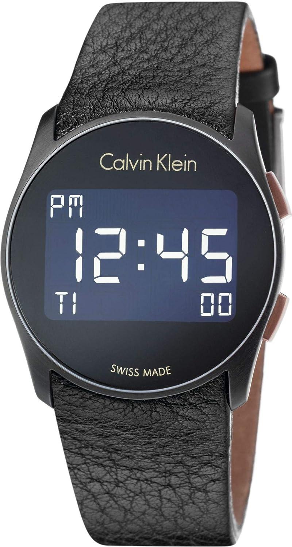 Calvin Klein Reloj Digital para Hombre de Cuarzo con Correa en Cuero K5B13XC1: Amazon.es: Relojes