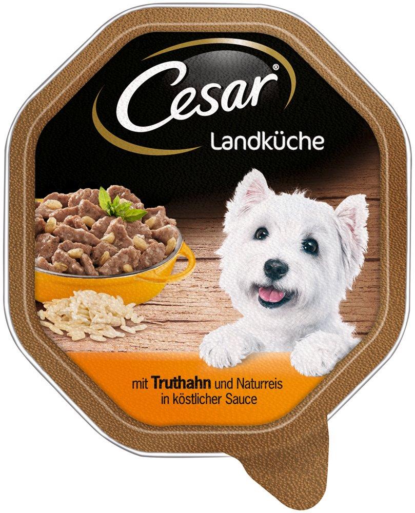 Cada Unidad con 2/tarrinas de 150/g pienso h/úmedo de Ave y Verduras a la Manera Tradicional Cesar Comida para Perros Pack de 7/Unidades