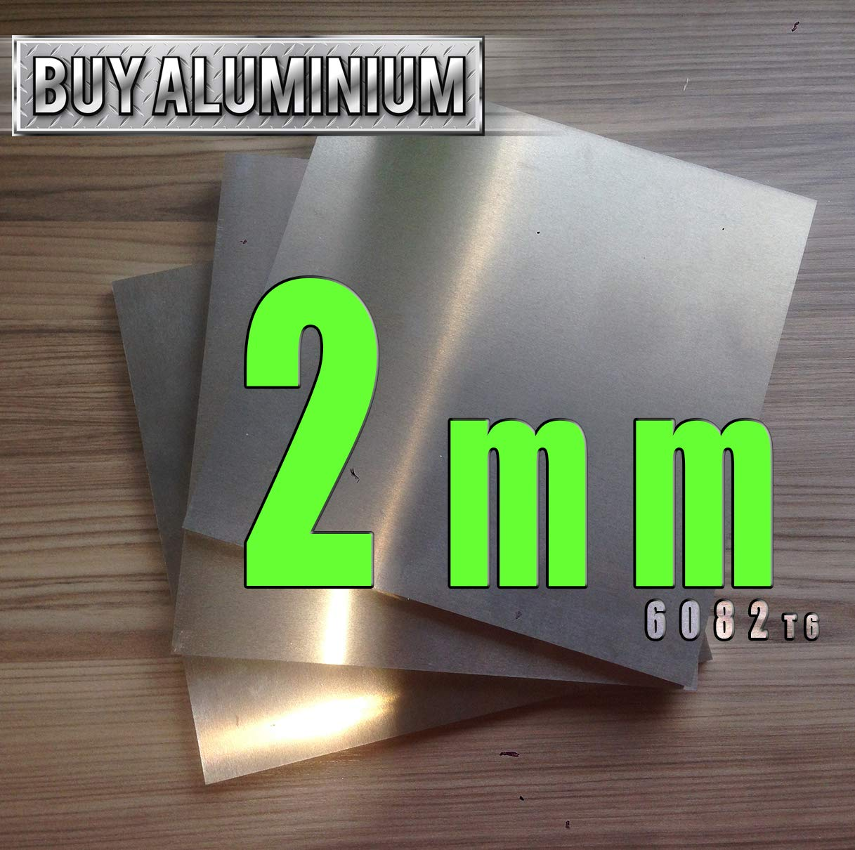 100mm x 100mm 2mm Aluminium Plate//sheet 6082 t6