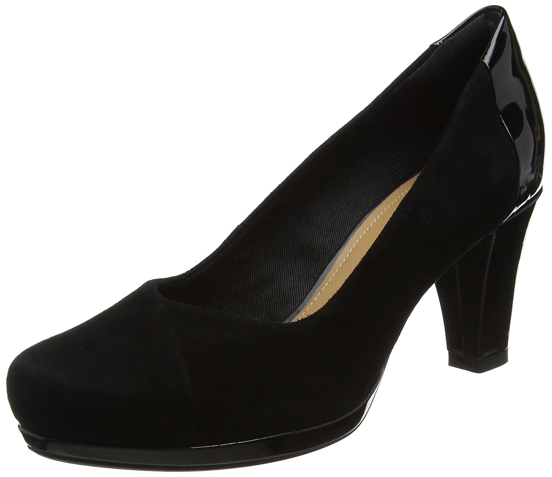 Clarks Chorus Carol, Zapatos de Tacón para Mujer 39 EU|Negro (Black Combi)