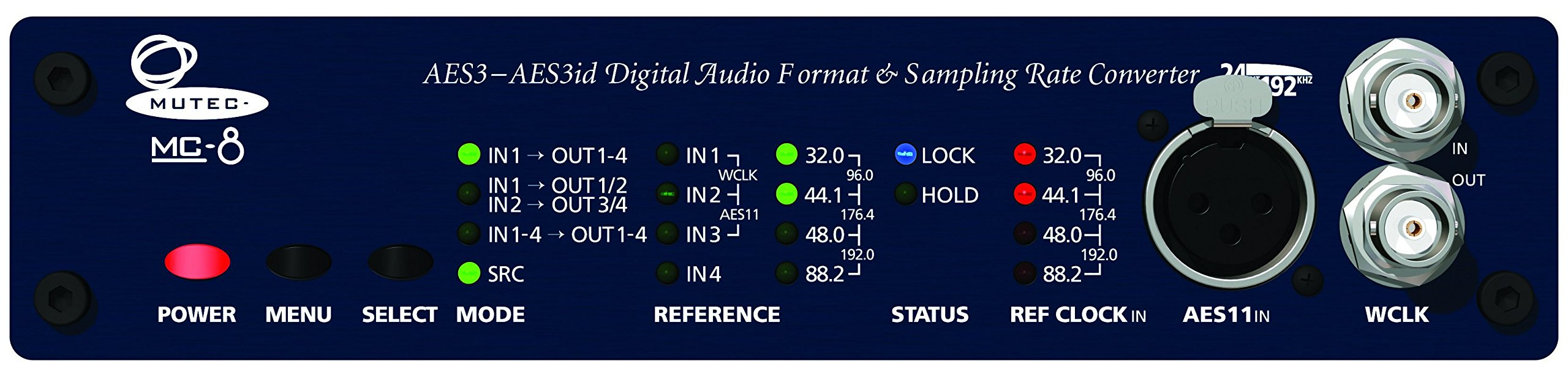 Mutec MC-8 8 channel AES Format & Sampling Rate convertor AES3/11 to AES3/11id by Mutec