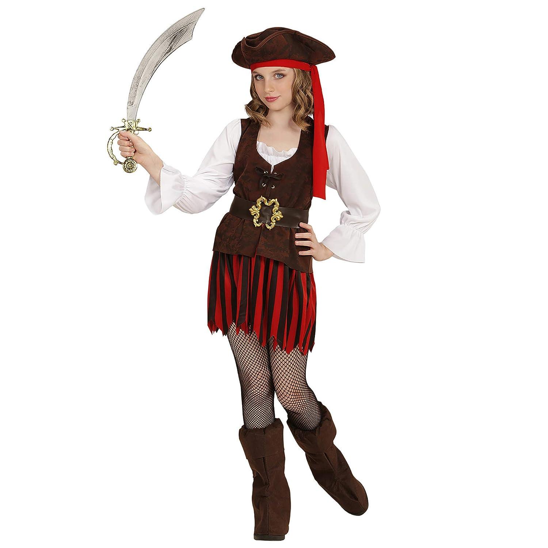WIDMANN 65635 infantil Disfraz Pirata niña, 116 cm: Amazon.es ...