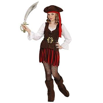 WIDMANN 65638 infantil Disfraz Pirata niña, 158 cm: Amazon.es ...