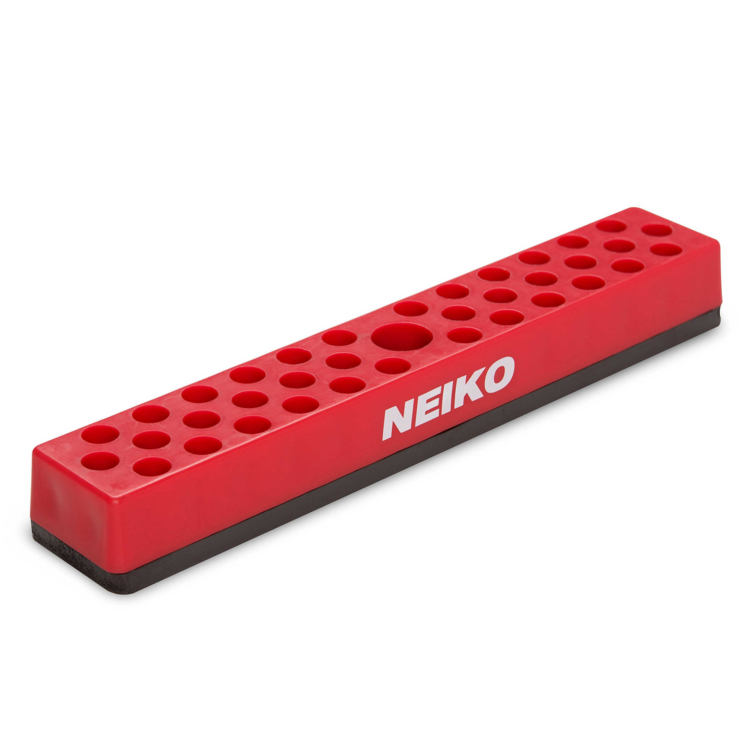 Neiko 02449A Hex Bit Organizer Rack with Strong Magnetic Base, 37-Hole Storage | ¼-Inch Hex Bit and Drive Bit Adapter