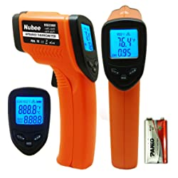 Nubee Temperature Gun Non-contact Infrared Thermometer w/ Laser Sight MAX Display