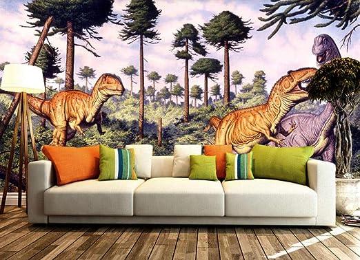 Wall Wallpaper 3d For Custom Jurassic 3d Dinosaur Photo Wall