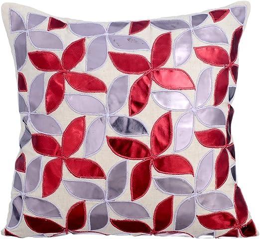 The HomeCentric rojo Fundas para Cojines 60 x 60 cm, Sabana de ...