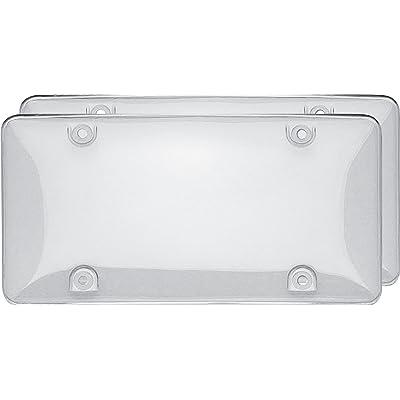 Cruiser Accessories 72101 Double Bubble Valu-Pak License Plate Shield/Cover, Clear: Automotive