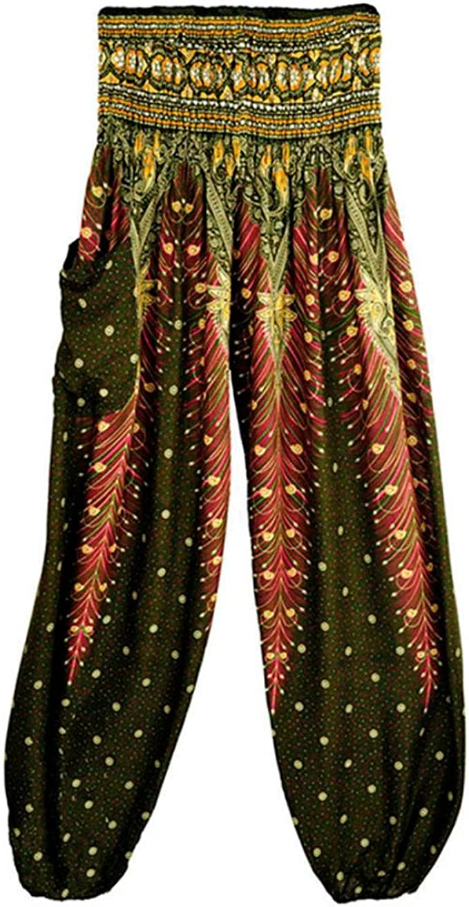 New Harem Tie Dye Leopard Animal Hippie Aladdin Boho Trouser Pant Unisex Elastic
