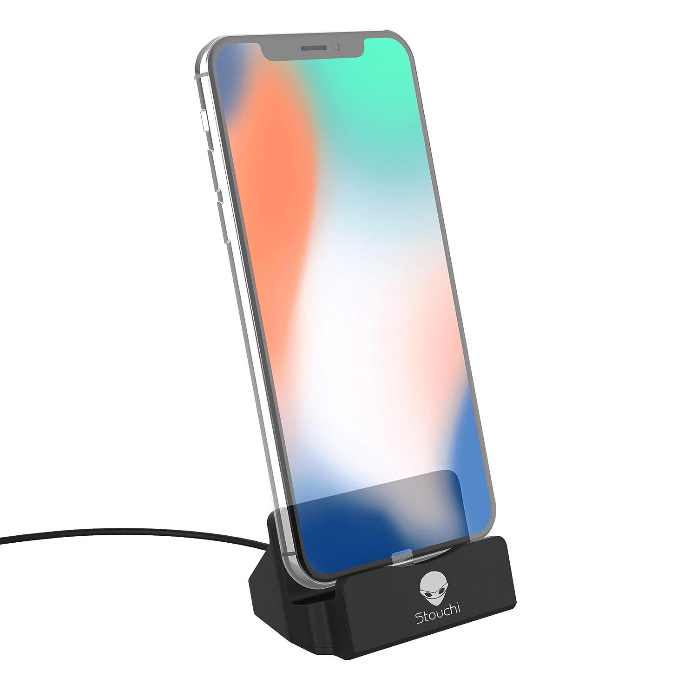 half off 6518f b8955 Stouchi Phone Charge Dock Station Compatible iPhone X/8/8 Plus/7/7Plus/6/6  Plus/6s/6s Plus/5/SE,iPad Mini, iPod Touch (Black)